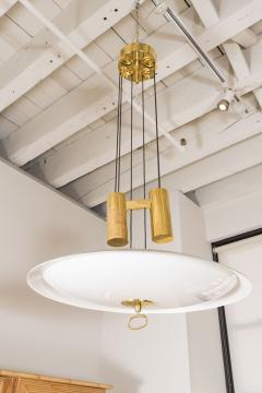 A Gaetano Scoliari Adjustable Height Italian Ceiling Fixture - 163554
