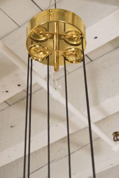 A Gaetano Scoliari Adjustable Height Italian Ceiling Fixture - 163555