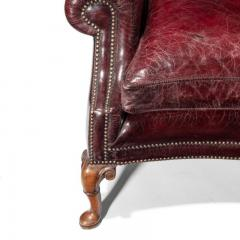 A Generous Leather Wing arm chair - 1188213