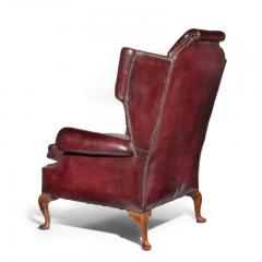 A Generous Leather Wing arm chair - 1188214