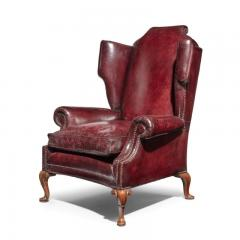 A Generous Leather Wing arm chair - 1188215