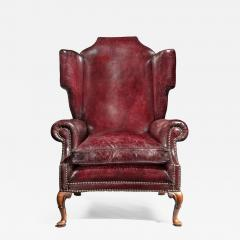 A Generous Leather Wing arm chair - 1188258