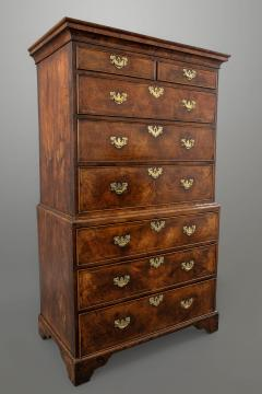 A George I Walnut Chest on Chest of Compact Size - 1176951