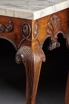 A George II George III Carved Mahogany Marble Top Console - 613231