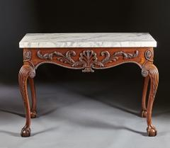 A George II George III Carved Mahogany Marble Top Console - 613232