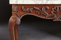 A George II George III Carved Mahogany Marble Top Console - 613233