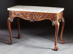 A George II George III Carved Mahogany Marble Top Console - 613234