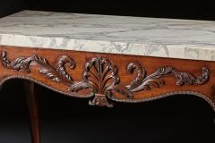 A George II George III Carved Mahogany Marble Top Console - 613235