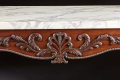 A George II George III Carved Mahogany Marble Top Console - 613237