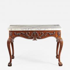 A George II George III Carved Mahogany Marble Top Console - 615534