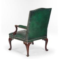 A George III Chippendale period mahogany wing arm chair - 1508917