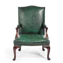 A George III Chippendale period mahogany wing arm chair - 1508918