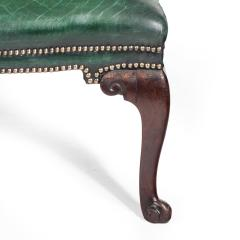 A George III Chippendale period mahogany wing arm chair - 1508920
