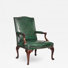 A George III Chippendale period mahogany wing arm chair - 1509862