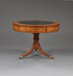 A George III Satinwood Drum Table With Engraved Inlay Of Astrological Symbols - 1252388