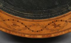 A George III Satinwood Drum Table With Engraved Inlay Of Astrological Symbols - 1252393