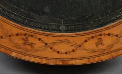 A George III Satinwood Drum Table With Engraved Inlay Of Astrological Symbols - 1252394