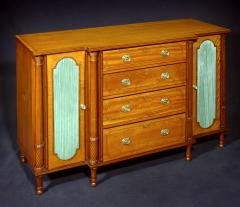 A George III Satinwood Secretaire Side Cabinet - 1021869