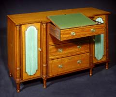 A George III Satinwood Secretaire Side Cabinet - 1021870