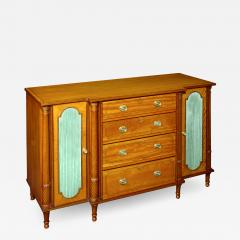 A George III Satinwood Secretaire Side Cabinet - 1023339