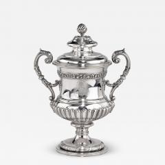 A George III antique silver Battle of Waterloo Commemorative cup and cover - 1660150