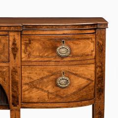 A George III breakfront yew wood inlaid mahogany sideboard - 1638381