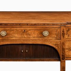 A George III breakfront yew wood inlaid mahogany sideboard - 1638382