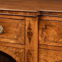 A George III breakfront yew wood inlaid mahogany sideboard - 1638383
