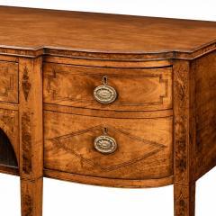 A George III breakfront yew wood inlaid mahogany sideboard - 1638384