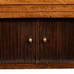 A George III breakfront yew wood inlaid mahogany sideboard - 1638385