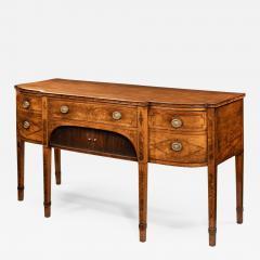 A George III breakfront yew wood inlaid mahogany sideboard - 1639239