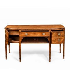 A George III breakfront yew wood inlaid mahogany sideboard - 1641772