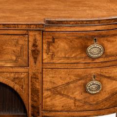 A George III breakfront yew wood inlaid mahogany sideboard - 1641773