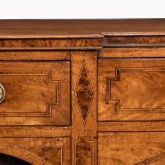 A George III breakfront yew wood inlaid mahogany sideboard - 1641775