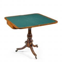 A George IV Anglo Chinese amboyna card table - 1325043