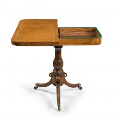 A George IV Anglo Chinese amboyna card table - 1325044