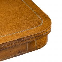 A George IV Anglo Chinese amboyna card table - 1325047