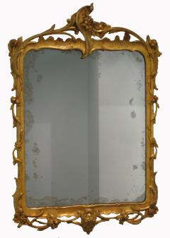 A German Carved and Gilded Openwork Wood Mirror with Original Glass - 116983