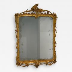 A German Carved and Gilded Openwork Wood Mirror with Original Glass - 118476