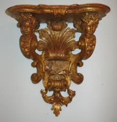 A Gilded Wood Bracket console dapplique  - 272869