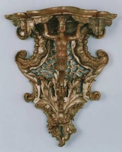 A Gilded Wood Console Bracket Depicting America - 274388