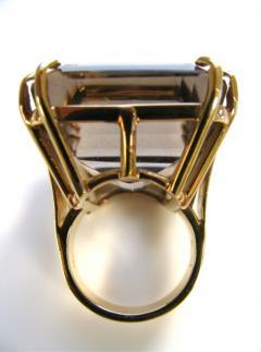 A Gold and Smokey Quartz Retro Ring c1945 - 43012