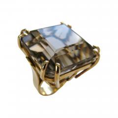 A Gold and Smokey Quartz Retro Ring c1945 - 43044