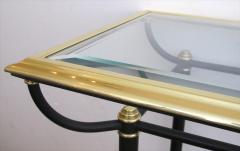 A Good Quality French Black and Metal Console Table - 156638