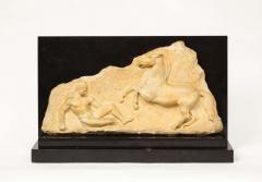 A Greek Parthenon Marble Frieze Panel Depicting a Man and Horse - 2137937