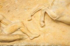 A Greek Parthenon Marble Frieze Panel Depicting a Man and Horse - 2137942
