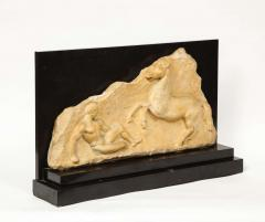 A Greek Parthenon Marble Frieze Panel Depicting a Man and Horse - 2137945