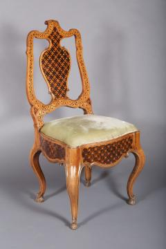 A Group of Four Rococo Side Chairs Central European possibly Russian ca 1750 - 97162