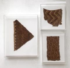 A Group of Three Framed Pre Columbian Textile Fragments - 600649