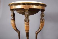 A Gustavian Giltwood Demilune Console Table Swedish ca 1800 - 97186